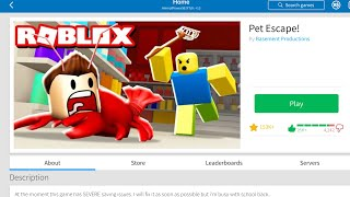 Pet Escape - ROBLOX - Trailer thingy ma do... PLAY IT!!!
