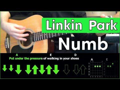Linkin Park - Numb \ Acoustic Cover \ Разбор песни на гитаре \ Табы, аккорды и бой