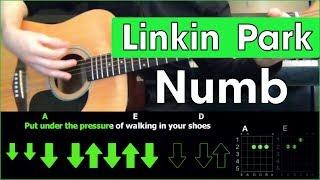 Linkin Park - Numb  Acoustic Cover  Розбір пісні на гітарі  Таби, акорди і бій