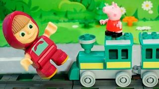 Мультики Маша и Медведь и Свинка Пеппа - Рискованная поездка! Новая серия! Познавательные мультики