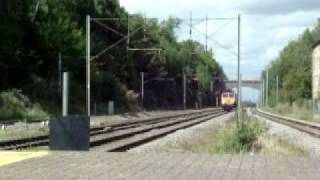 two class 66 GBRF trains with a tone