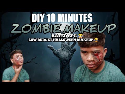 DIY 10 minutes Zombie Makeup | Halloween Makeup