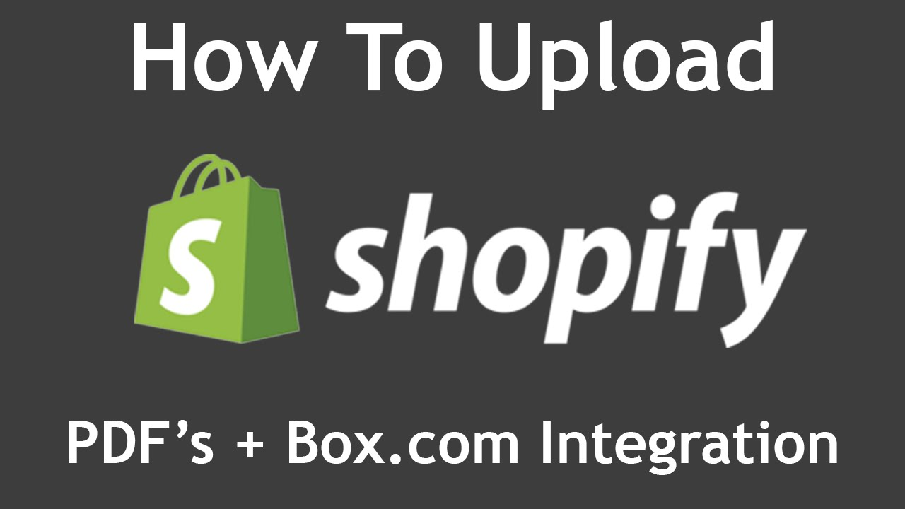 How To Upload and Display PDF's On your Shopify Store (Also: Embed Box com  Folder On Shopify Page)