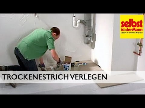 trockenestrich verlegen youtube. Black Bedroom Furniture Sets. Home Design Ideas
