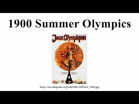 1900 Summer Olympics