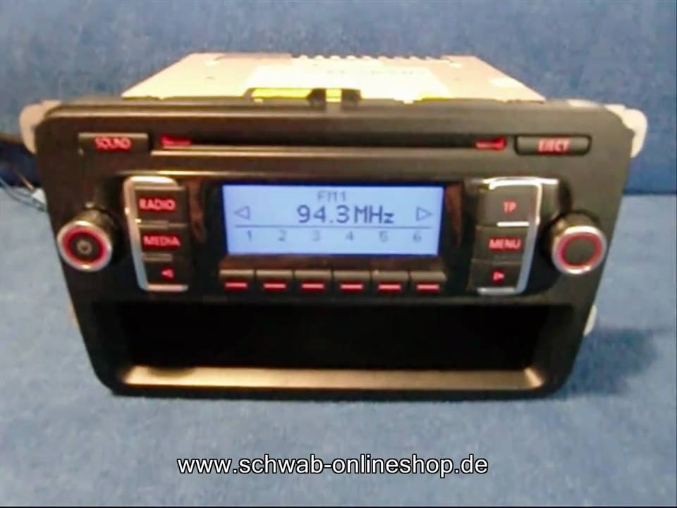 vw rcd 210 mp3 radio autoradio carradio car 1k0035156bx http rh youtube com