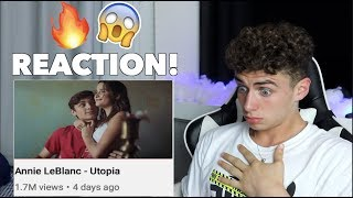 REACTING TO Annie LeBlanc - Utopia (Official Music Video)