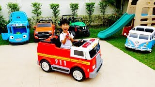 Video for Kids Car Toy Pretend Play Power Wheels Johny Johny Yes Papa 위드키즈 예준이와 아빠의 자동차 장난감 놀이