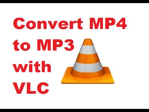 can vlc media player convert mp4 to mp3