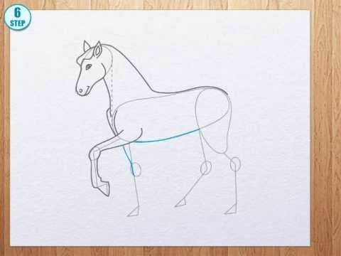 How To Draw A Horse Youtube