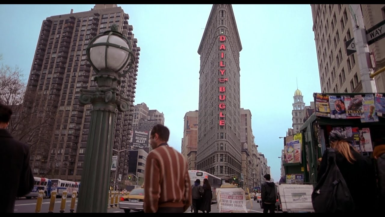visiting the daily bugle building in real life - YouTube
