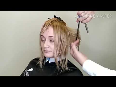 Градуированная стрижка на короткие волосы видео уроки