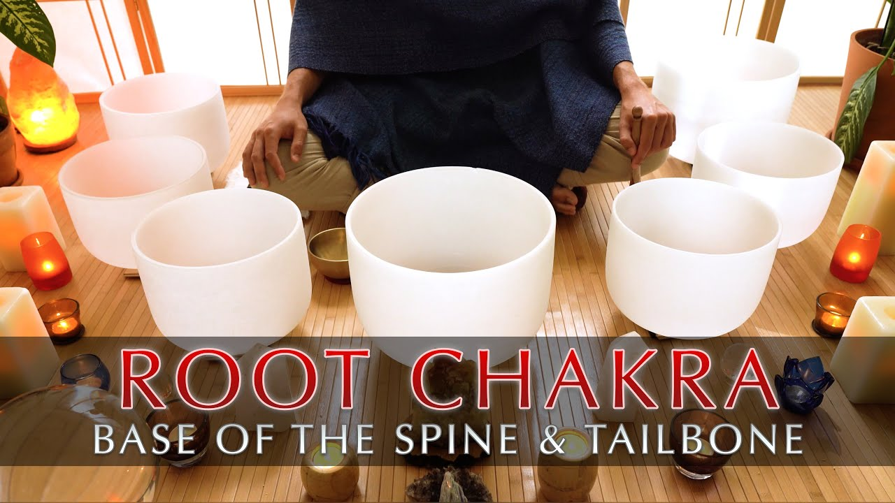 Root Chakra Cleanse | Crystal Singing Bowl Sound Bath | Grounding Meditation | Short 8 Minutes