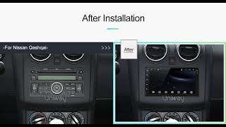 Uniway AWD7071 android 7.1 car dvd for nissan qashqai x-trail