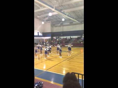 Coats Erwin middle school cheer team