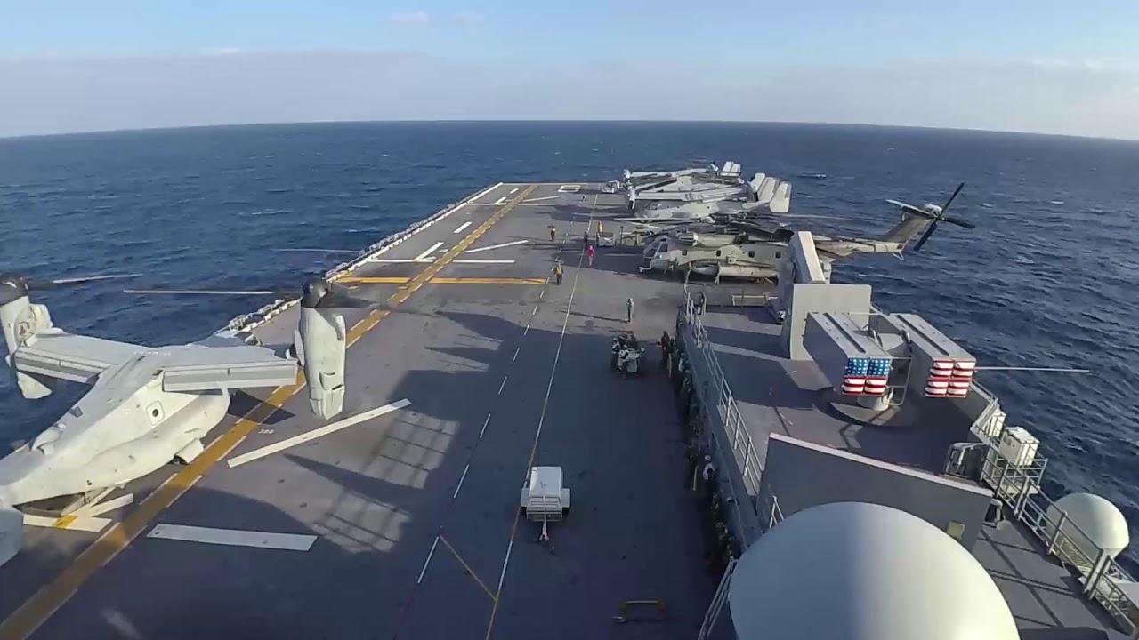 U.S. Navy – USS America Conducts Flight Operations –  Philippine Sea