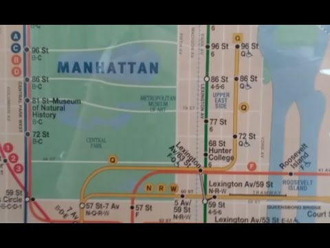 Mta Nyc Subway Special The New Subway Map Featuring Q To 96th