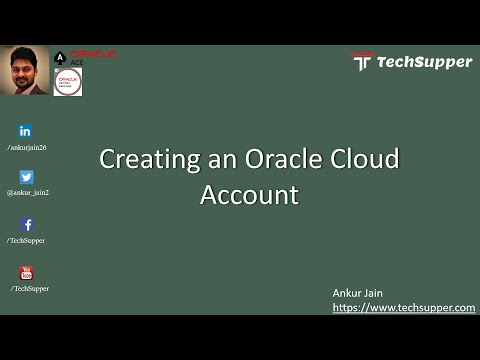 Creating an Oracle Cloud Account free