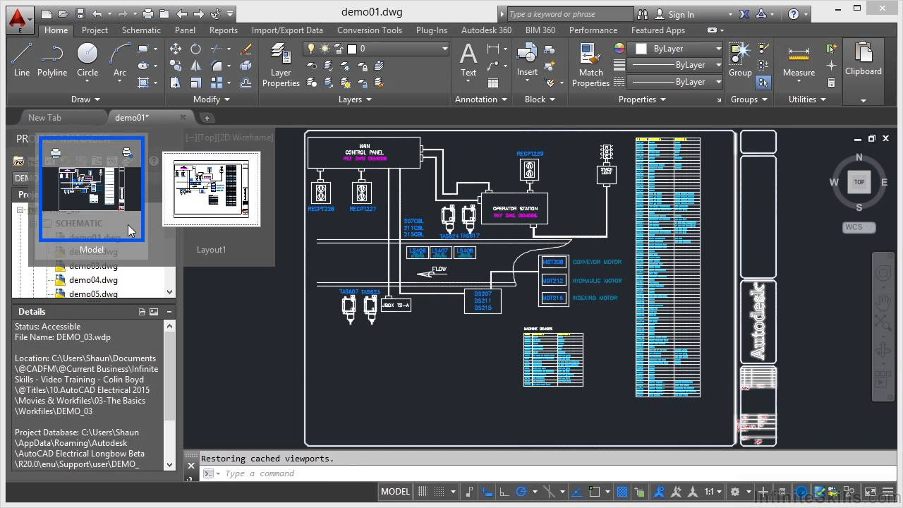 Autocad Electrical 2015 Tutorial Model And Layout Youtube