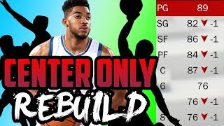 CENTER ONLY CHALLENGE! BEST RECORD EVER! NBA 2K17 My League