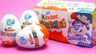 Smurf Kinder Surprise Egg opening Candy and Toys