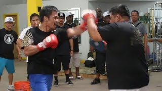 MANNY PACQUIAO'S LAST TRAINING SESSION FOR KEITH THURMAN FIGHT!