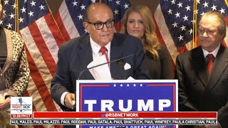 Was LIVE: Trump Campaign Legal Team Holds Press Conference in DC 11/19/20