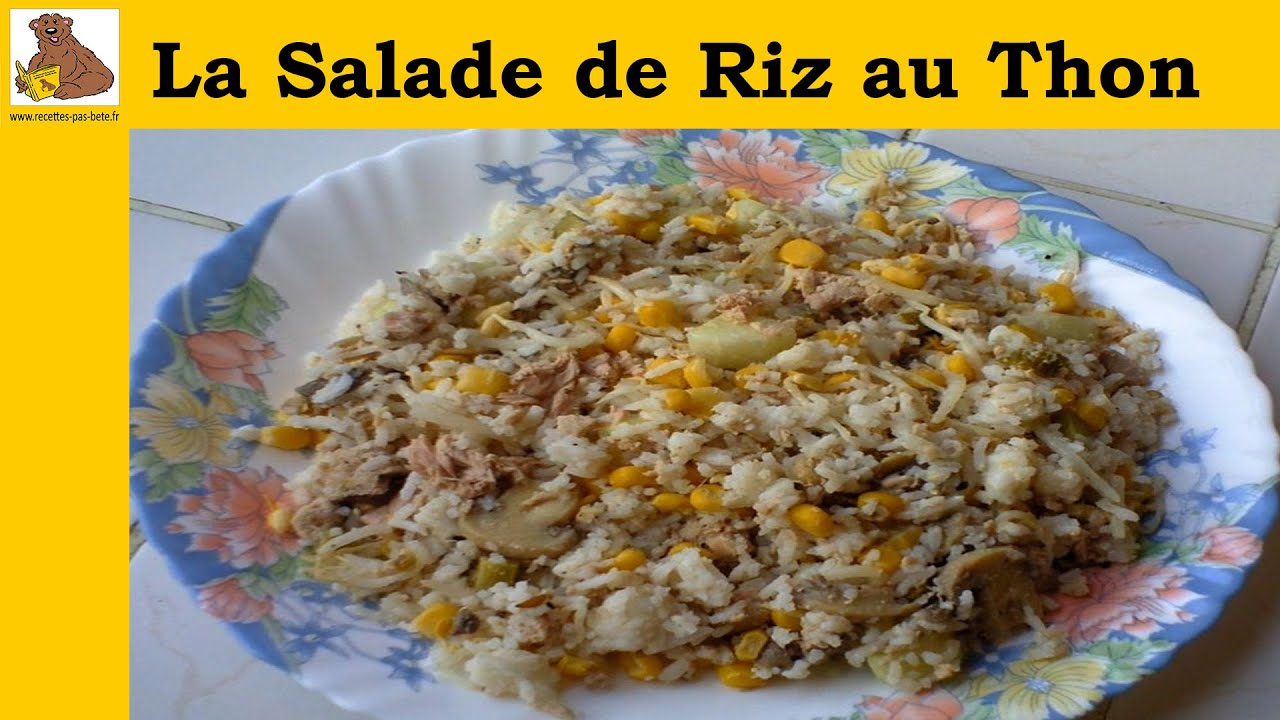 la salade de riz au thon recette facile hd youtube. Black Bedroom Furniture Sets. Home Design Ideas