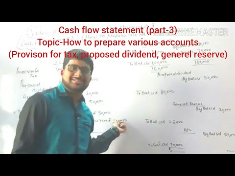 #88,accounts:Cash flow statement:Provison for tax, proposed