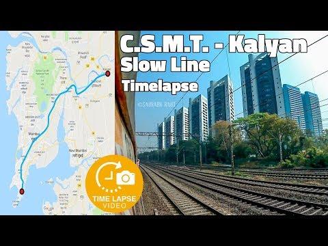 Mumbai Local Time-lapse - CSMT to Kalyan Slow Line Uncut Journey | 0.5 Sec Time lapse