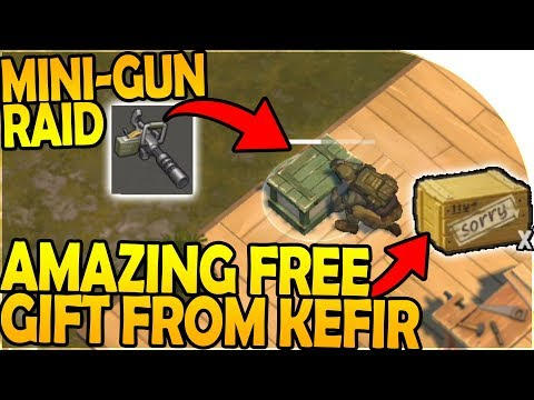 MINIGUN RAID + AMAZING FREE GIFT from KEFIR - Last Day On Earth Survival 1.7.2 Update Gameplay