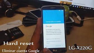 Formatear y Eliminar Cuenta Google En Mi LG X220G