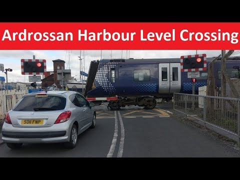 Ardrossan Harbour Level Crossing - Ayrshire Coast Line -  Ardrossan, North Ayrshire