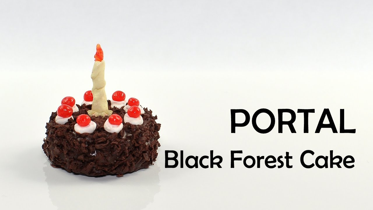 Portal The Cake Is A Lie Black Forest Polymer Clay Tutorial