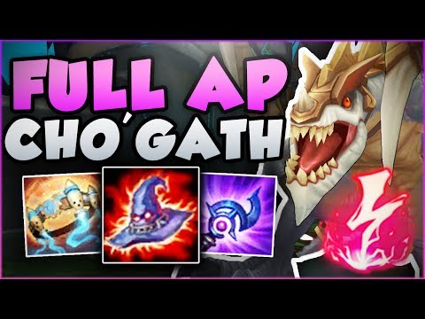 HOW BROKEN CAN FULL AP ON CHO'GATH REALLY BE?? CHO'GATH SEASON 8 TOP GAMEPLAY! - League of Legends