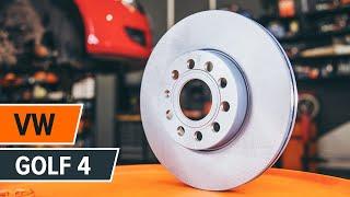 Kuinka vaihtaa Takajarrupalat ja etujarrupalat VW GOLF IV (1J1) - ilmaiseksi video verkossa