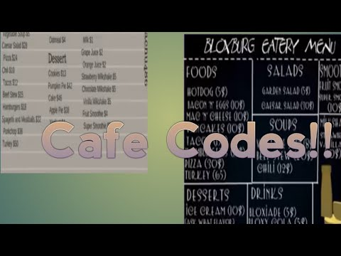 Roblox Bloxburg Cafe Codes Youtube