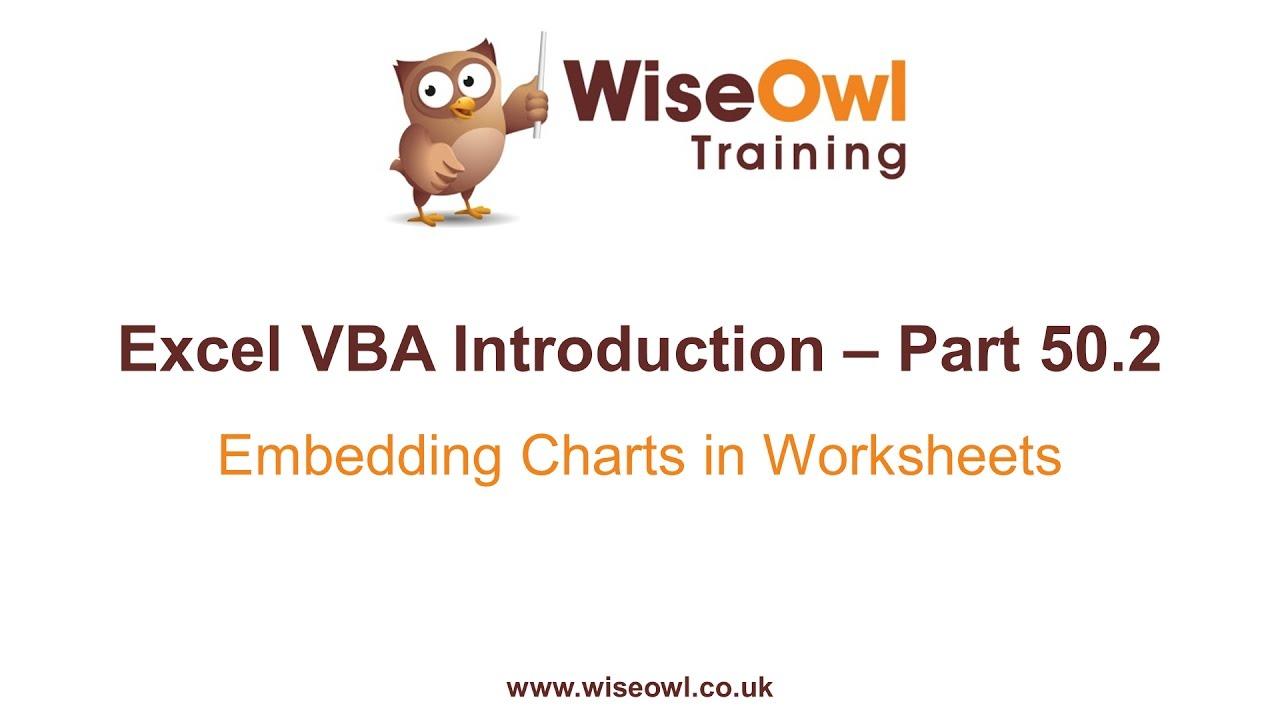 Excel VBA Introduction Part 502 Embedding Charts in Worksheets – Vba Worksheets