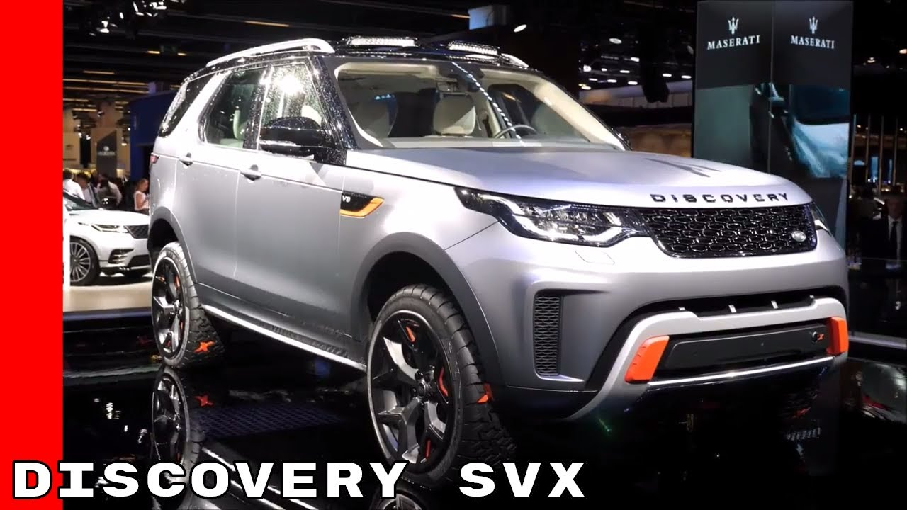 2018 land rover svx. contemporary 2018 2018 land rover discovery svx u0026 jaguar at frankfurt motor show to land rover svx
