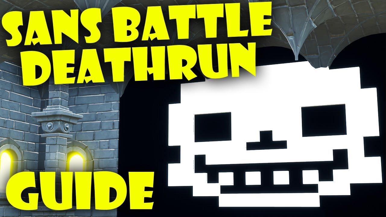 Fortnite deathrun recreates the Undertale Sans boss fight, and it's