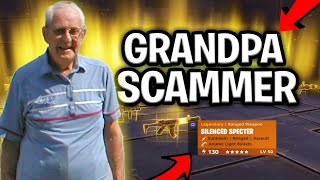 Raging Grandpa Loses His Rich Inventory! (Scammer Gets Scammed) Fortnite Save The World