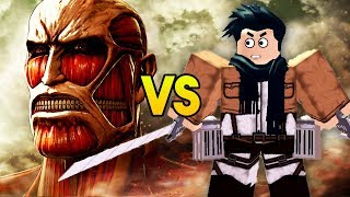 """ATTACK ON TITAN VS ROBLOX"" (Attack on Titan in Roblox, Roblox Attack on Titan Anime Game, AOT)"