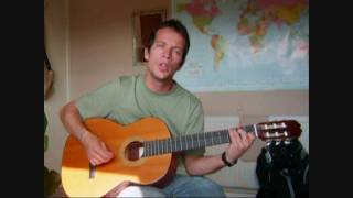 Redemption song - Bob Marley Acoustic Cover with Lyrics by Jonathan David