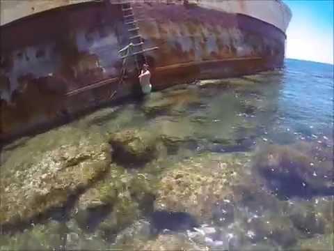 Onboard abandoned shipwreck Edro 3 cyprus HD