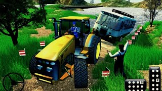 Tractor Pull Driving Simulator Farming Game 2020 - Off-road Tractor Driving || Android Gameplay screenshot 4