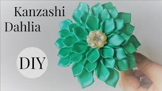 Hey everyone. Today we are going to make Kanzashi Dahlia Flower usi...