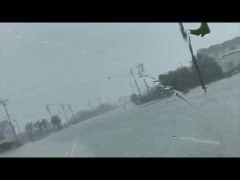 Flooding, Swansboro, NC. Hurricane Florence. September 14, 2018.