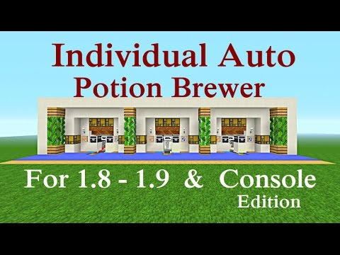 Minecraft Tutorial Individual Auto Potion Brewer Youtube