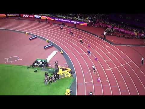 Great Britain wins 4x100m Relay Men Final IAAF World Champs London 2017