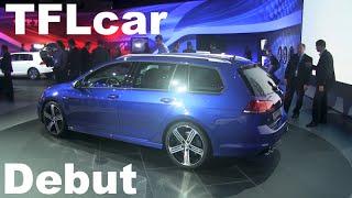 Watch the 2015 Volkswagen Golf R SportWagen Debut: 300 HP+AWD+More Room